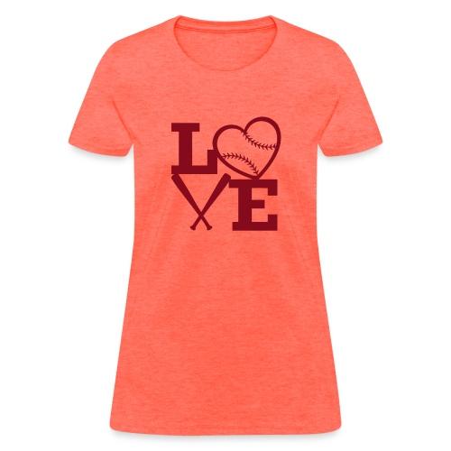 Love baseball - Women's T-Shirt