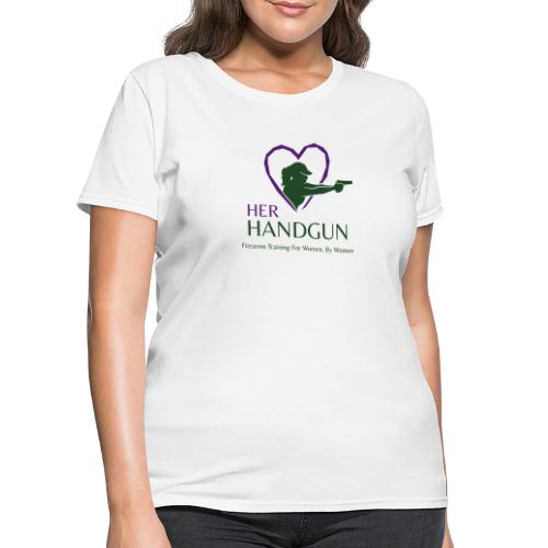 Official HerHandgun Logo with Slogan - Women's T-Shirt