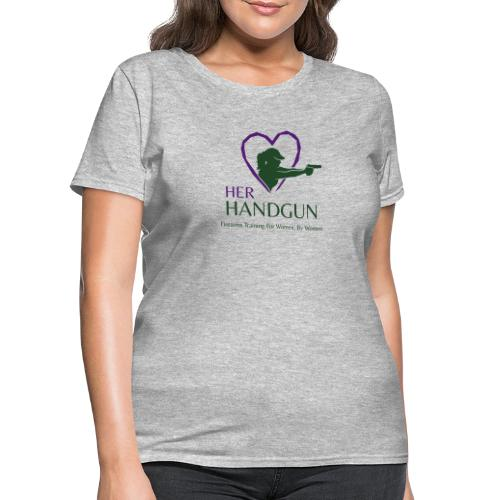 Official HerHandgun Logo with Slogan - Women's T-Shirt