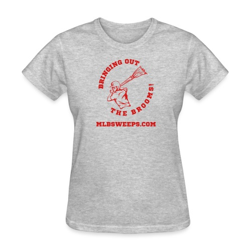 MLB Sweeps Logo and tagline with URL (Light) - Women's T-Shirt