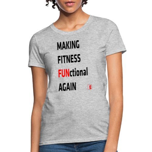 goality MFF tshirt black red - Women's T-Shirt