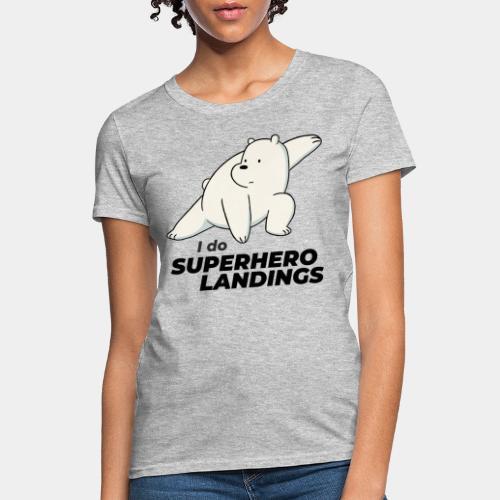 superhero landing hero - Women's T-Shirt