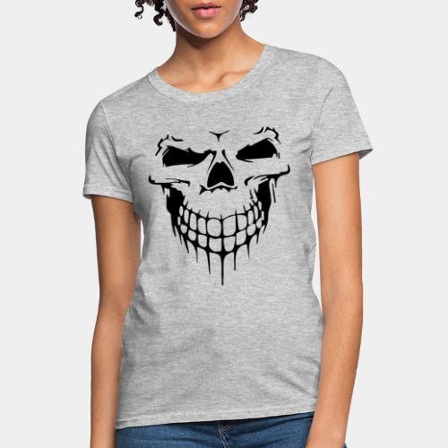 skull rock metal face - Women's T-Shirt