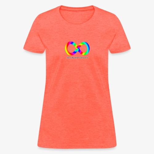Neurodiversity with Rainbow swirl - Women's T-Shirt