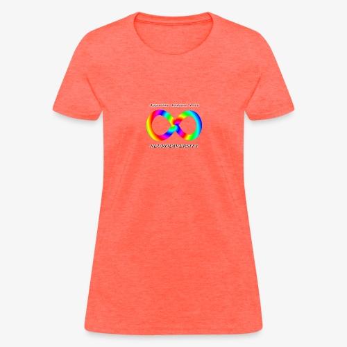 Embrace Neurodiversity with Swirl Rainbow - Women's T-Shirt