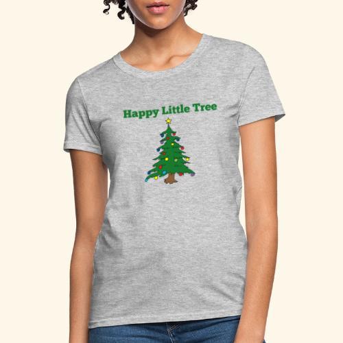 Christmas Tree HAPPY TREE TEE - Women's T-Shirt