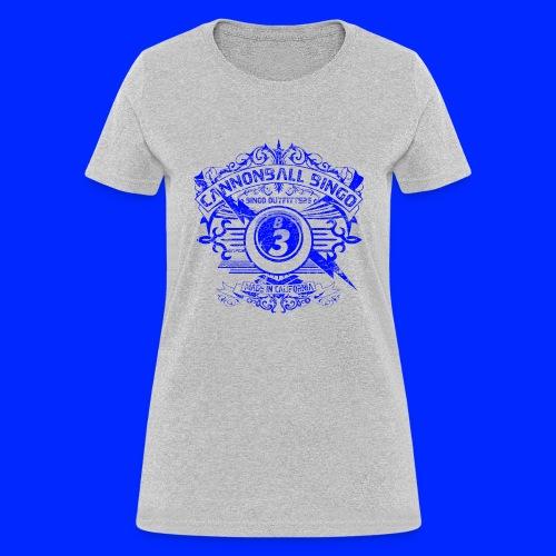 Vintage Cannonball Bingo Crest Blue - Women's T-Shirt