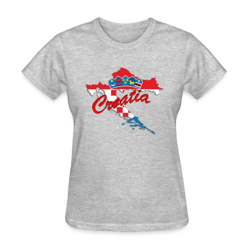 Croatia Football Team Colours T-Shirt Treasure Des - Women's T-Shirt