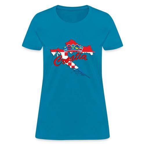 Croatia Football Team Colours T-Shirt Treasure Des - Women's T-Shirt