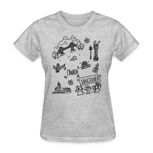 vancouver Canada themed hand drawn cute artwork - Women's T-Shirt
