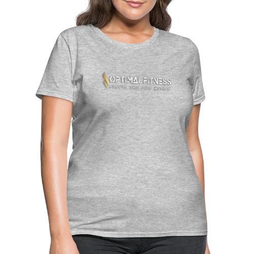 white logo, keep calm and hiit it white - Women's T-Shirt