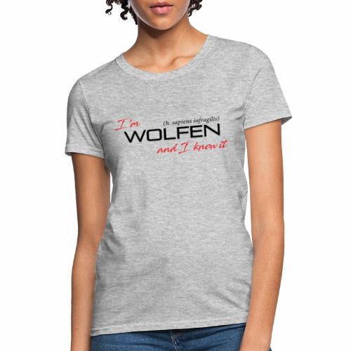 Front/Back: Wolfen Attitude on Light- Adapt or Die - Women's T-Shirt