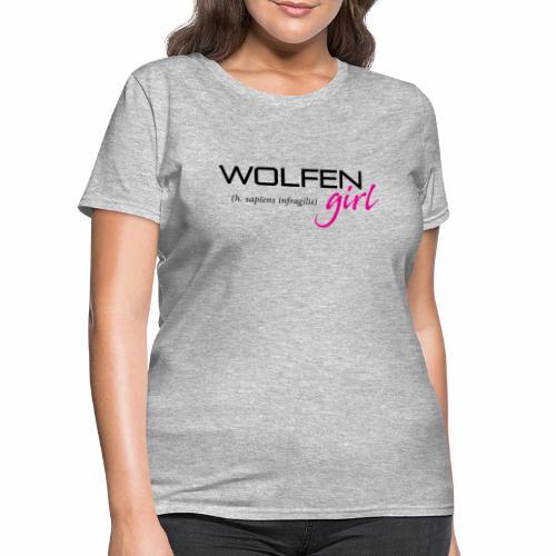Front/Back: Wolfen Girl on Light - Adapt or Die - Women's T-Shirt