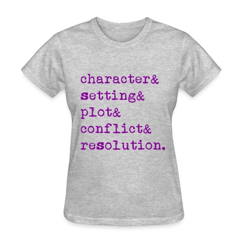 5 Elements of a Story - Women's T-Shirt