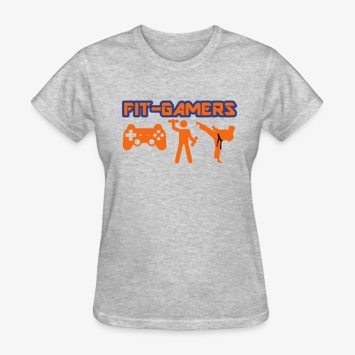 FIT-GAMERS Logo w/ Icons - Women's T-Shirt