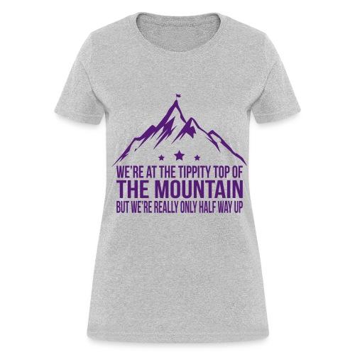 Tippity top of the mountain Purple - Women's T-Shirt