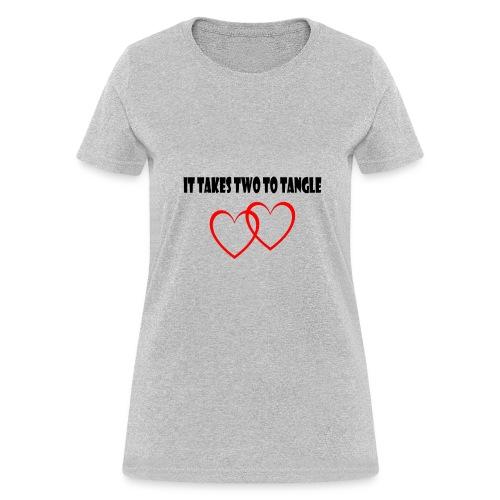 love heart husband and wife t shirt - Women's T-Shirt