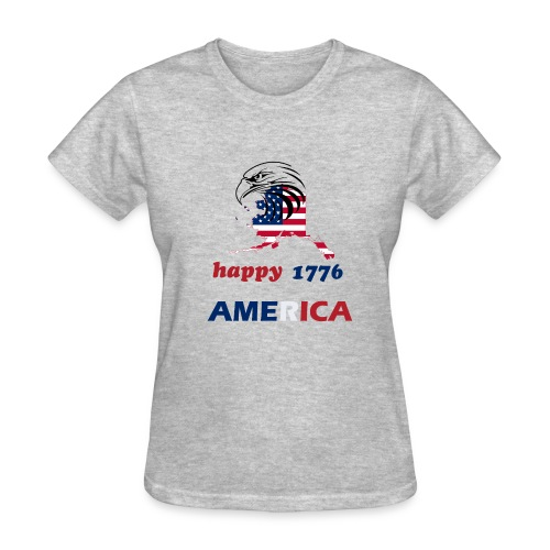 happy america 4th of july 1776 - Women's T-Shirt
