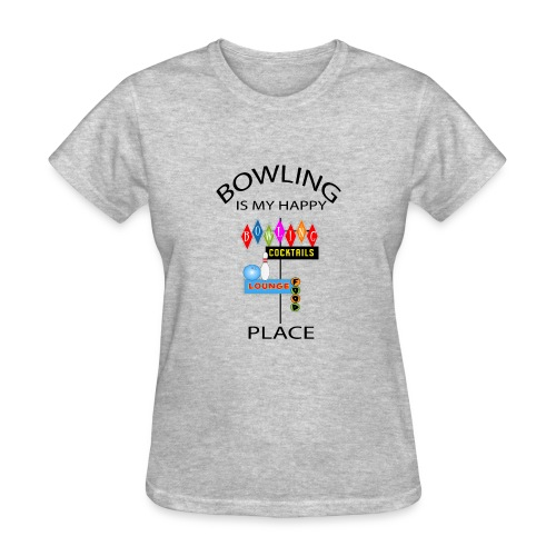 TSHIRTFINDERS- T-SHIRTS -Bowling is My Happy Place - Women's T-Shirt