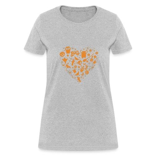 Halloween Funny skull zombie pumpkin Tshirt 18 - Women's T-Shirt