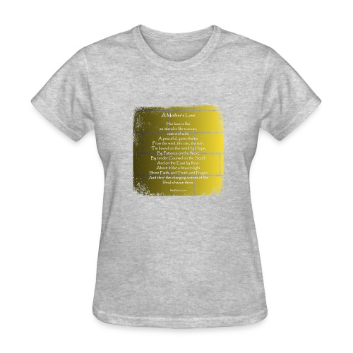 A Mother's Love - Poetry Gifts - Distressed Wall - Women's T-Shirt