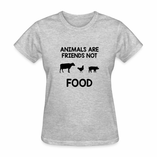 Animals Are Friends Not Food - Women's T-Shirt