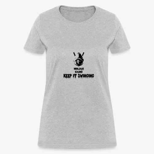 ninjah gang keep it swinging - Women's T-Shirt