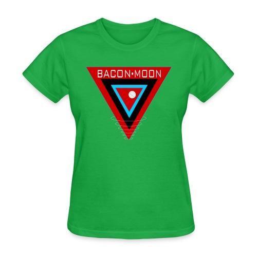 bm logo 1a white rings - Women's T-Shirt