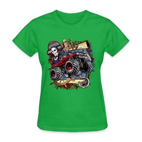 Pirate Monster Truck - Women's T-Shirt