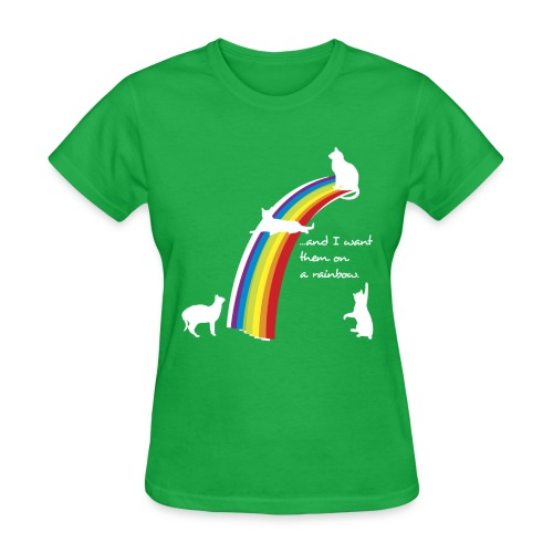 rainbow cats black - Women's T-Shirt