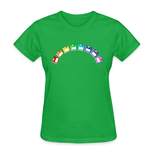 floppy disk rainbow - Women's T-Shirt