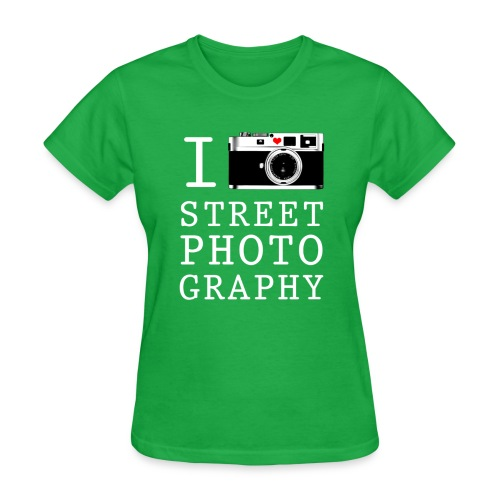 i heart street photography big transpare - Women's T-Shirt