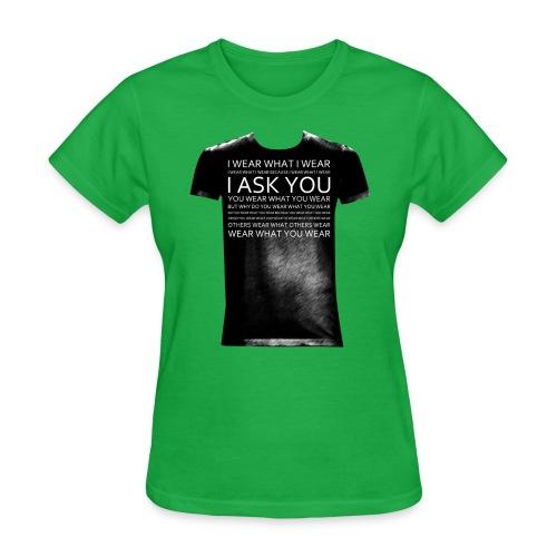I ask You black - Women's T-Shirt