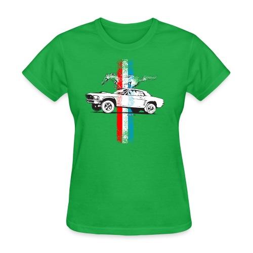 auto_mustang_69_stripes_01 AUTONAUT.com - Women's T-Shirt