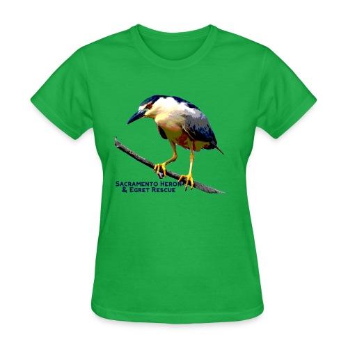Black crowned Night Heron - Women's T-Shirt