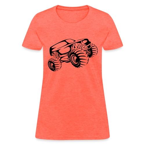 Monster Truck Abstract - Women's T-Shirt