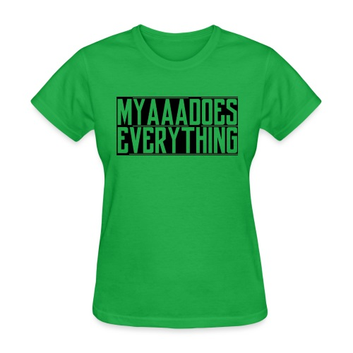 MyaaaDoesEverything (Black) - Women's T-Shirt