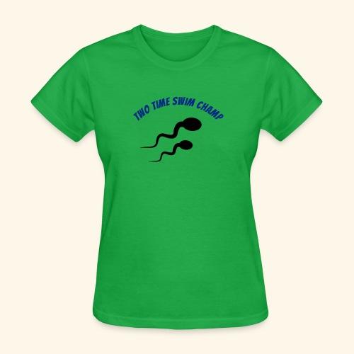 Adult Fathers day swim champ - Women's T-Shirt