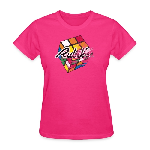 Rubik's Cube Distressed and Faded - Women's T-Shirt