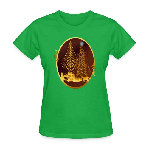 Golden Presents-Gold Kitties - Women's T-Shirt