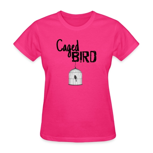 Caged Bird Abstract Design - Women's T-Shirt