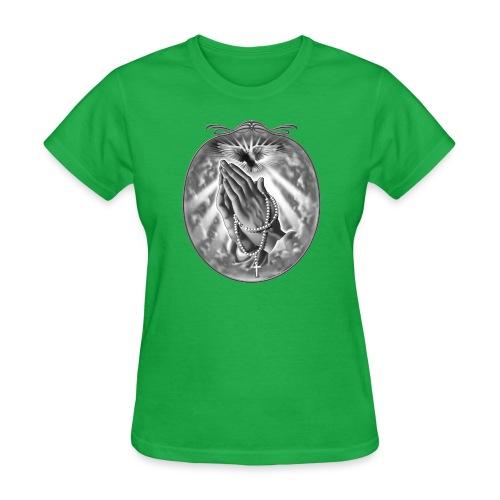 Praying Hands by RollinLow - Women's T-Shirt