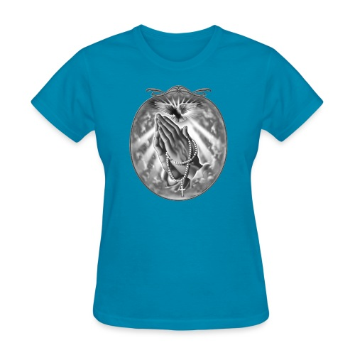 Praying Hands by RollinLow - Women's T-Shirt