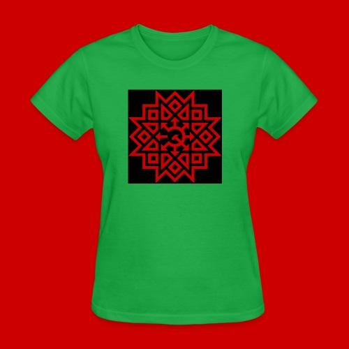 Chaos Communism Button - Women's T-Shirt