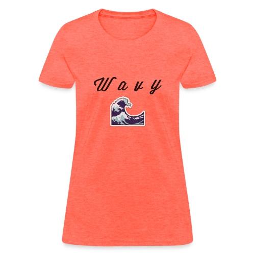 Wavy Abstract Design. - Women's T-Shirt