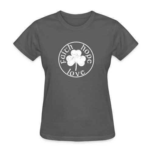 Irish Shamrock Faith Hope Love - Women's T-Shirt