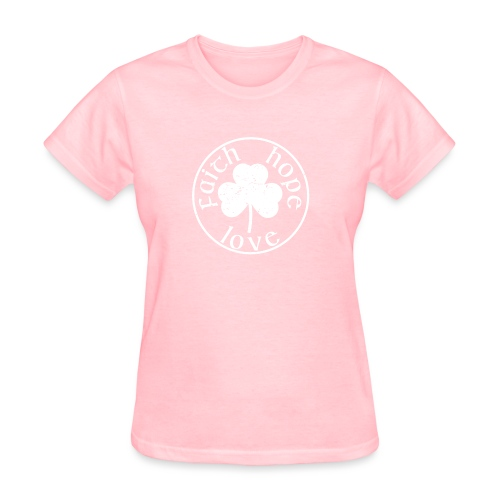 Irish Shamrock Faith Hope Love - Women's T-Shirt
