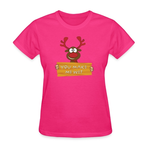 Red Christmas Horny Reindeer 8 - Women's T-Shirt
