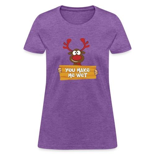 Red Christmas Horny Reindeer 5 - Women's T-Shirt