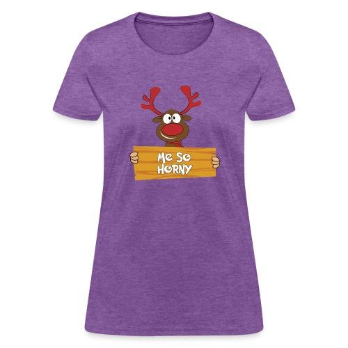 Red Christmas Horny Reindeer 6 - Women's T-Shirt